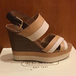 COACH Gaile Wedge Sandal (NEW)